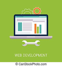 Web Development Concept Art