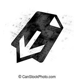 Web development concept: Download on Digital background