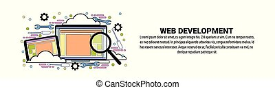 Web Development Concept Horizontal Banner With Copy Space