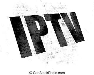 Web development concept: IPTV on Digital background