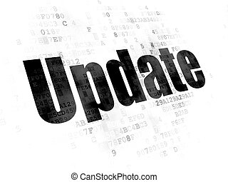Web development concept: Update on Digital background