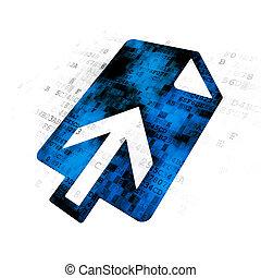 Web development concept: Upload on Digital background