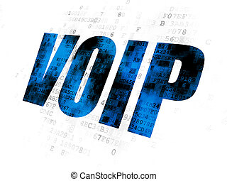 Web development concept: VOIP on Digital background