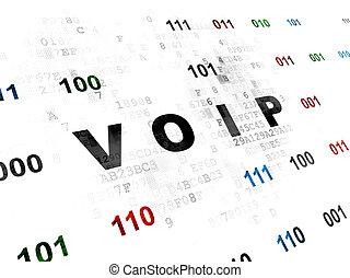 Web development concept: VOIP on Digital background