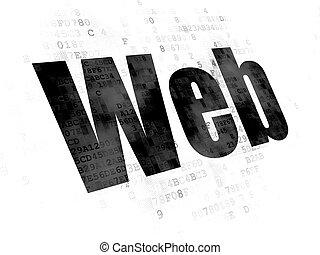 Web development concept: Web on Digital background