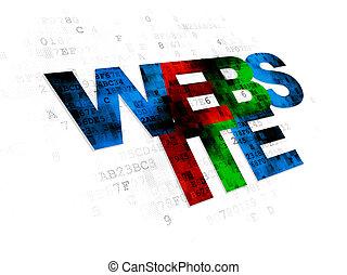 Web development concept: Website on Digital background