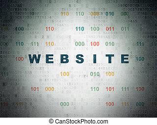 Web development concept: Website on Digital Data Paper background