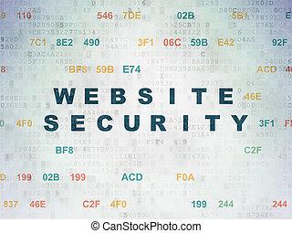 Web development concept: Website Security on Digital Paper background