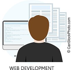 Web Development Icon Flat Design