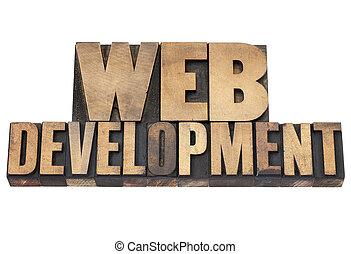 web development in wood type