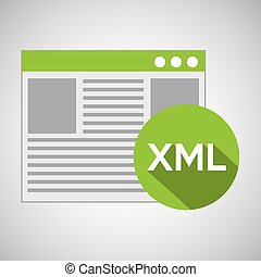 web development page code xml vector illustration eps 10