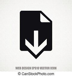 Web development vector Download icon. Modern flat design.