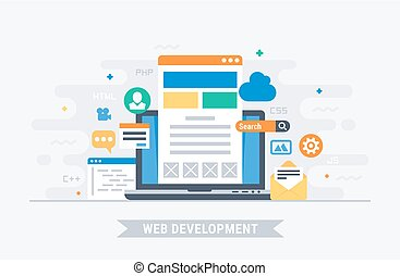 Web development vector illustration