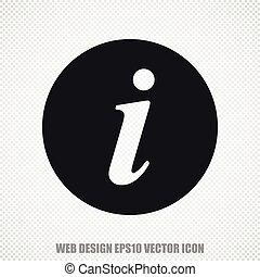 Web development vector Information icon. Modern flat design.