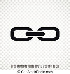 Web development vector Link icon. Modern flat design.