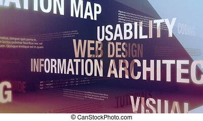 web, disegno, termini, relativo