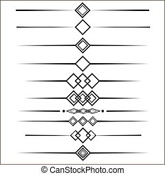 web dividers set for your design eps 10 vector