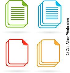 Web document vector icon