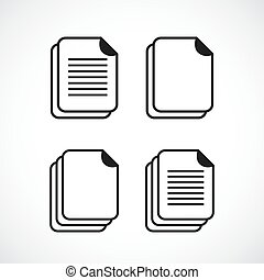 Web document vector icon