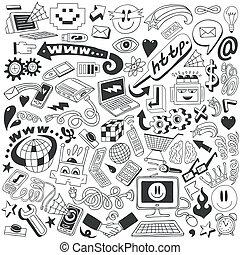 web, doodles