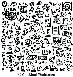 Web - doodles set