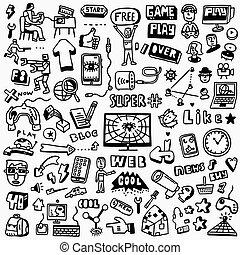 Web doodles set