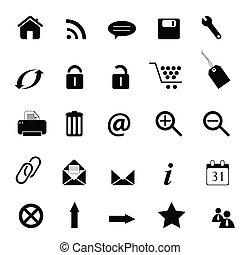 Web, e-commerce, e-business icons
