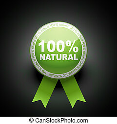 web, ecologie, knoop, procent, duw, icon., honderd