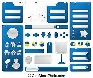 web, elementi, illustrazione, luogo., vettore, disegno