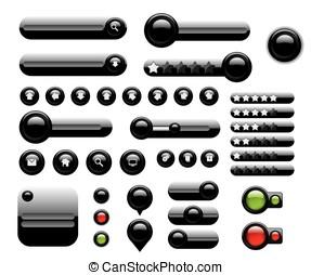 Web elements set black buttons