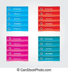 Web Elements Vector Button