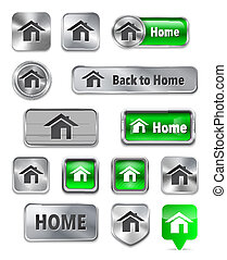 Web elements with home sign