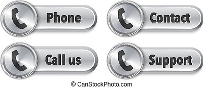 Web elements with phone sign