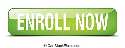 web, enroll, quadrat, taste, freigestellt, realistisch, grün...
