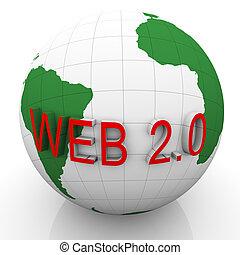 web, erdball, 2.0, 3d