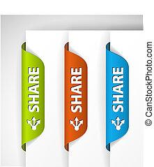 (web), etiquetas, parte, /, borda, adesivos, página