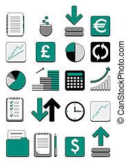 web, financiën, pictogram