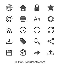 Web flat icons. Simple vector icons. Clear and sharp. Easy...