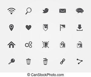 web, fondamentale, icone