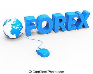 web, forex, in tutto il mondo, internet, terra, mostra