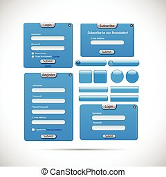 Web Form Template Illustration