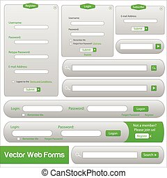Web Forms Template - Green web forms template