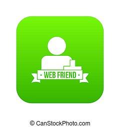Web friends icon green