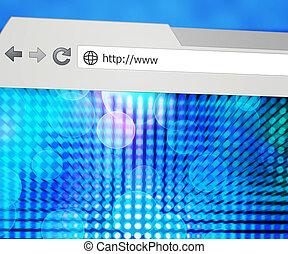 web, geleide, browser