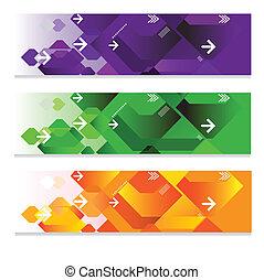 web, geometrisch, headers
