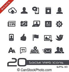 //,  web, grondbeginselen, sociaal, iconen