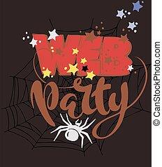 web Halloween party elements, vector illustration