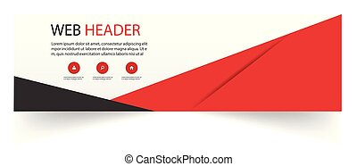 Web Header Abstract Black Red Design Vector Image