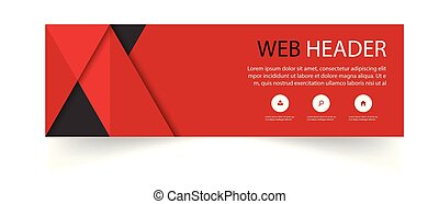 Web Header Abstract Red Black Background Vector Image