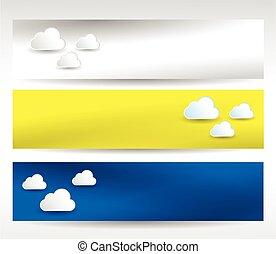 web header clouds